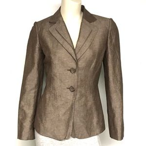 Tahari treasure- linen blend jacket